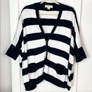 Michael Kors black and white striped sweater S/M